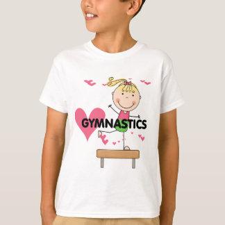 GIMNASIA - camisetas rubias del haz de balanza del Poleras