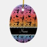 Gimnasia conocida personalizada del brillo del ornaments para arbol de navidad
