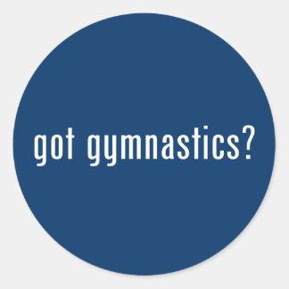 ¿gimnasia conseguida? pegatina redonda
