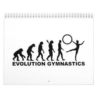 Gimnasia de la evolución calendario de pared