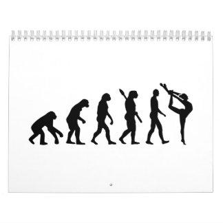 Gimnasia de la evolución calendarios de pared
