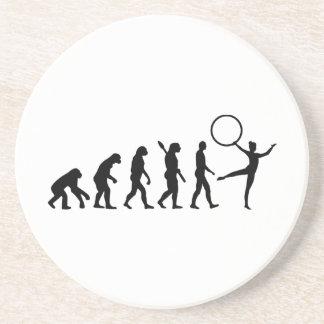 Gimnasia de la evolución posavasos personalizados