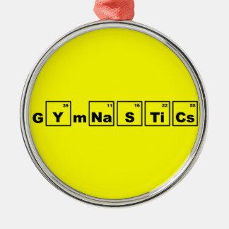 Gimnasia de la tabla periódica ornamento para arbol de navidad