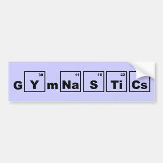 Gimnasia de la tabla periódica pegatina para auto