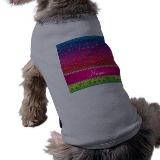 Gimnasia de plata conocida personalizada del arco playera sin mangas para perro