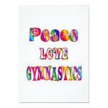 Gimnasia del amor de la paz invitación 12,7 x 17,8 cm