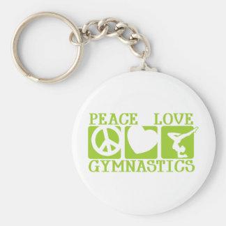 Gimnasia del amor de la paz llavero redondo tipo pin