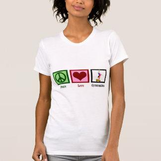 Gimnasia del amor de la paz tee shirt