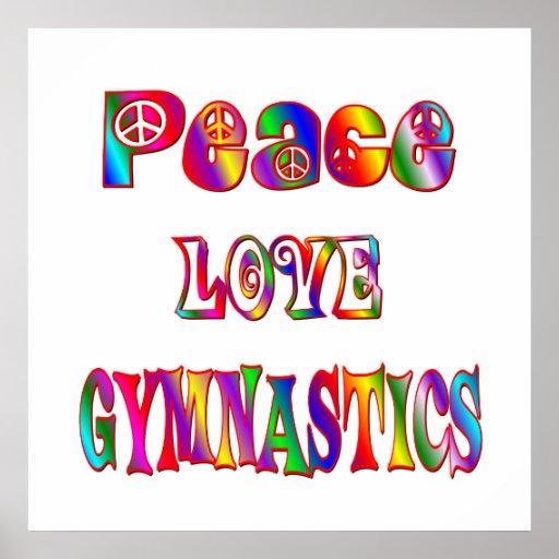 Gimnasia del amor de la paz posters