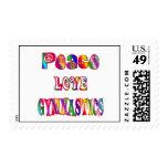 Gimnasia del amor de la paz sellos