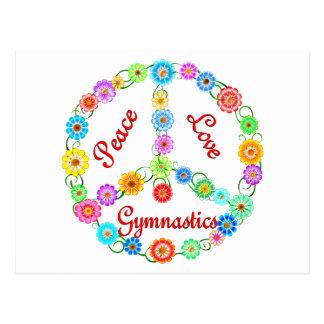 Gimnasia del amor de la paz tarjetas postales