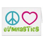 Gimnasia del amor de la paz tarjetón
