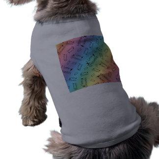 Gimnasia del amor del arco iris I Playera Sin Mangas Para Perro