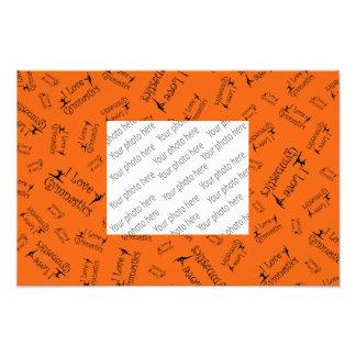 Gimnasia del amor del naranja I Fotografía