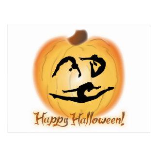 Gimnasia del feliz Halloween Tarjeta Postal