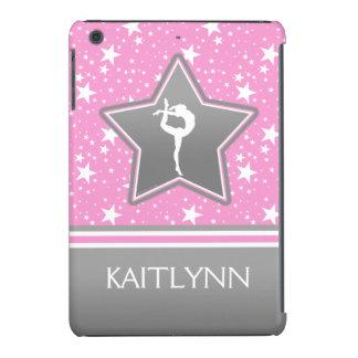 Gimnasia entre las estrellas en rosa con SU NOMBRE Funda De iPad Mini