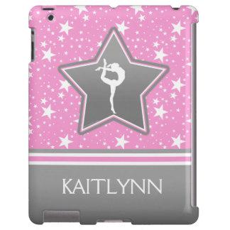 Gimnasia entre las estrellas en rosa con SU NOMBRE Funda Para iPad