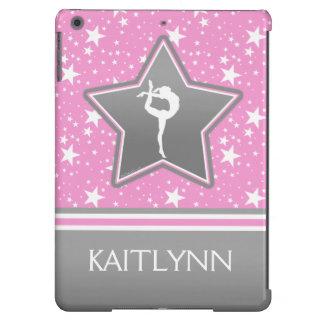 Gimnasia entre las estrellas en rosa con SU NOMBRE Funda Para iPad Air