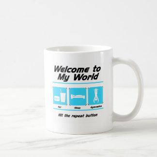 Gimnasia mi mundo taza de café