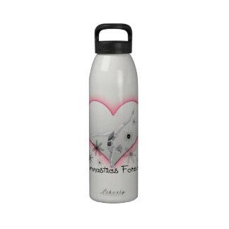 Gimnasia para siempre botellas de agua reutilizables
