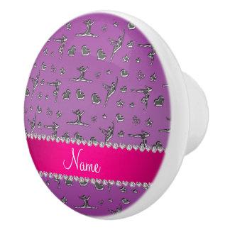 Gimnasia púrpura de plata conocida personalizada pomo de cerámica