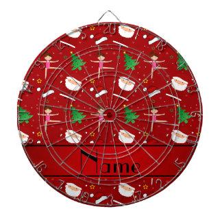 Gimnasia roja conocida de encargo santas del tabla dardos