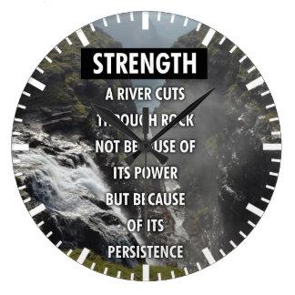 Gimnasio de motivación de la aptitud reloj de pared