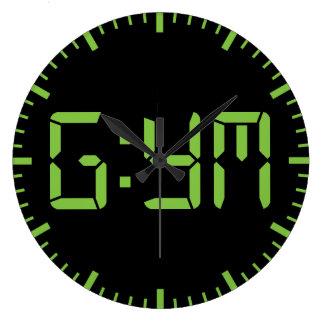 Gimnasio de motivación reloj redondo grande
