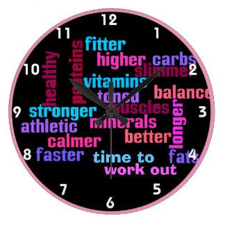 gimnasio o reloj de motivación de los deportes