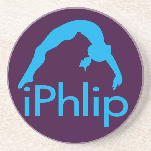 gimnasta azul de la gimnasia del iPhlip Posavasos Cerveza