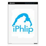 gimnasta azul de la gimnasia del iPhlip iPad 3 Skins
