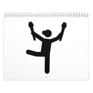 Gimnasta de la gimnasia calendario