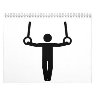 Gimnasta de la gimnasia calendarios de pared