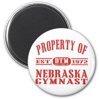Gimnasta de Nebraska Imán Redondo 5 Cm