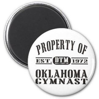 Gimnasta de Oklahoma Imán Redondo 5 Cm