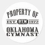 Gimnasta de Oklahoma Pegatinas Redondas