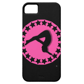 Gimnasta en rosa iPhone 5 Case-Mate coberturas