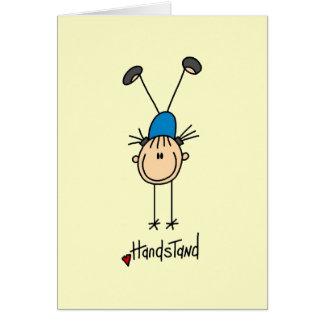 Gimnasta que hace Handstands Tarjeta Pequeña