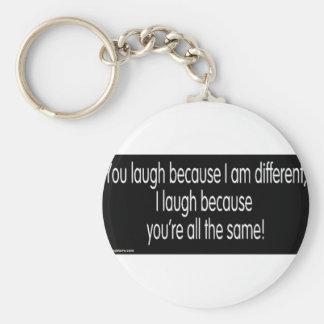 gimp humor basic round button keychain