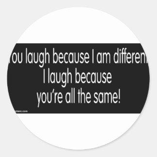 gimp humor classic round sticker