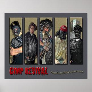 Gimp Revival Band Poster (Dark Grey)