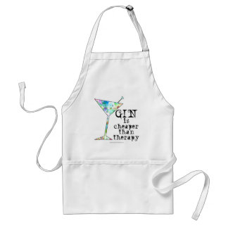 GIN is cheaper than therapy ` Adult Apron