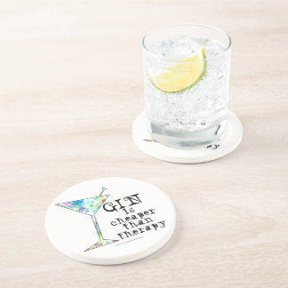 GIN is cheaper than therapy ` Drink Coaster