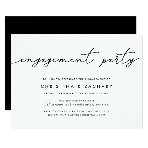 Gin Lane Engagement Party Invitation