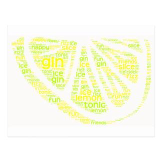 Gin Lemon Slice postcard