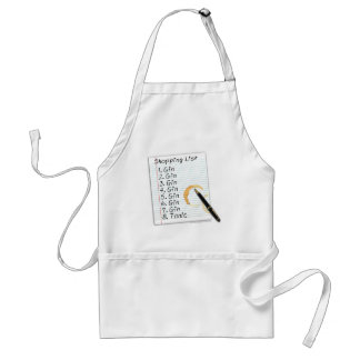 GIN LOVERS SHOPPING LIST ADULT APRON