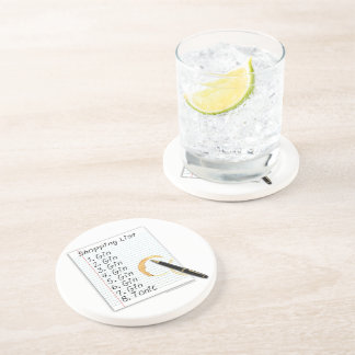 GIN LOVERS SHOPPING LIST DRINK COASTER