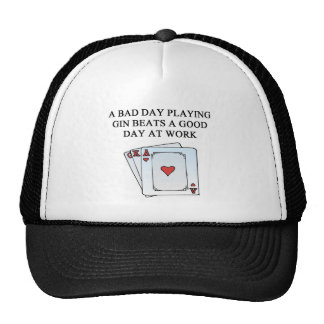 gin rummy game player mesh hat