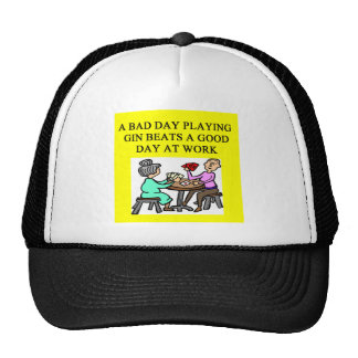 gin rummy game player hats