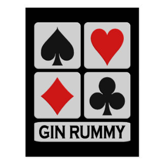 Gin Rummy postcard